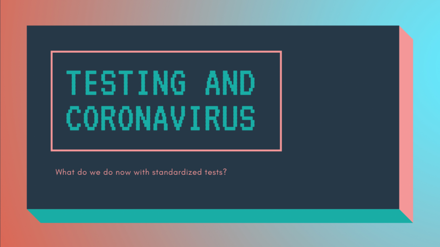 With school being temprarily suspended, a lot is up in the air regarding standardized tests during the coronavirus.