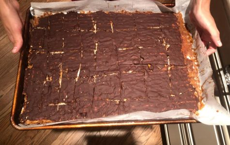 Chocolate Toffee Matzah