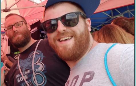 Matt (right) and Alex (left) Pollack snap a selfie.