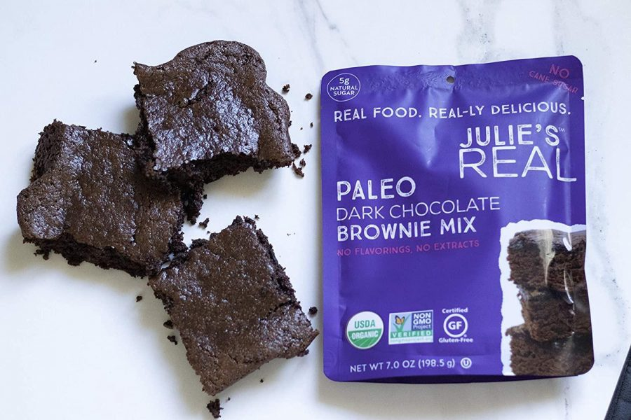 The mix and delicious result of Julie's Real Paleo Brownies!