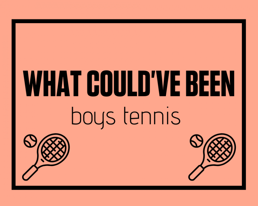 Members of the boys tennis team look back at