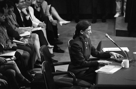 Ruth Bader Ginsburg at her Supreme Court hearing in 1993.