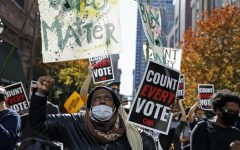 """Navigation to Story: """"Count every vote"""" protests occur in Philadelphia on Election Day"""