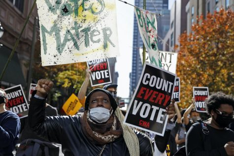 """Count every vote"" protests occur in Philadelphia on Election Day"
