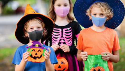 Halloween masks look different this year as the pandemic remains a problem.