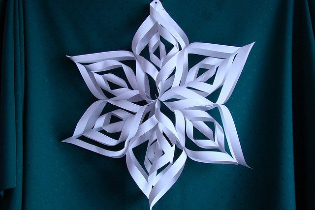 There are many fun holiday DIY activities.  One of these activities is creating paper snowflakes.