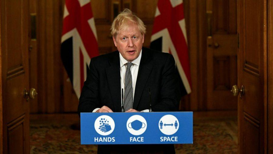 Boris Johnson, the Prime Minister of the U.K., addressing citizens on November 1st, 2020.