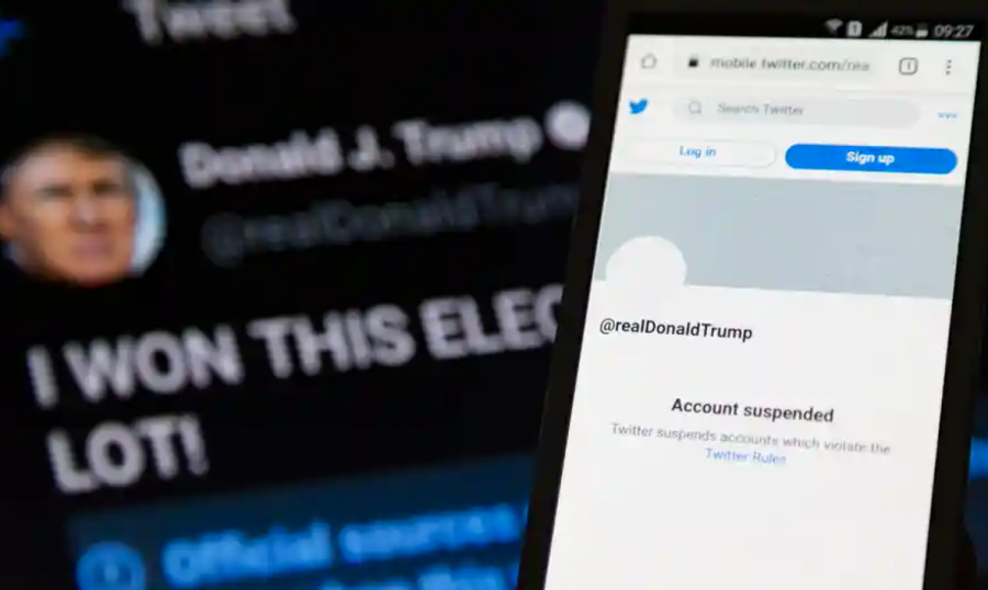 Former president Donald Trump's Twitter account was suspended after spreading false misinformation and inciting violence, which violated Twitter's user policies.