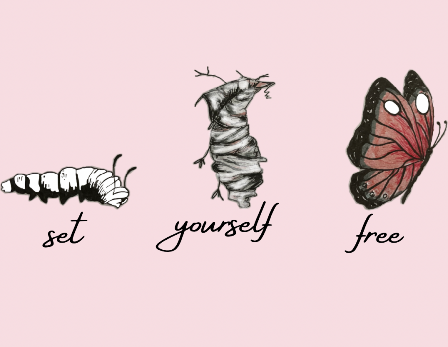 Self Growth art (Melissa Vital '23 and Abby Yu '23)