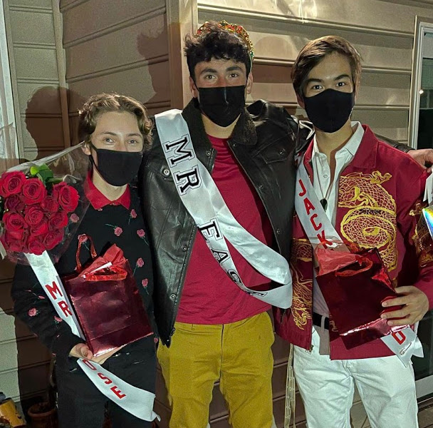 Seniors Jordan Grossman, Seth Hornstein and Tyler Semon received the titles as Mr. East, second place, and third place, respectively.
