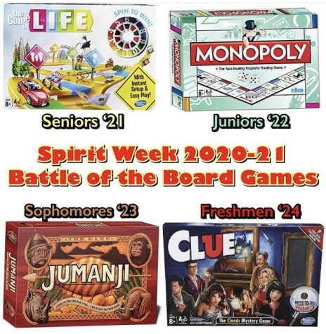 """East students prepare for spirit week with the theme of """"Battle of the Board Games."""""""