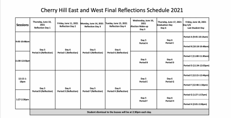 A schedule has been created for the new reflections taking place this year.