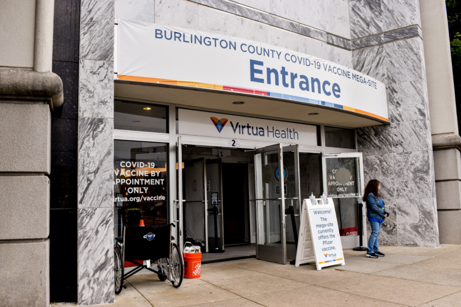 The Moorestown Mall is the home of the The Burlington County Vaccine Mega-Site.
