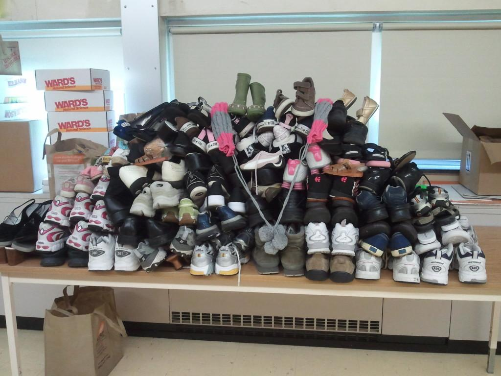 Soles4Souls+collects+over+400+pairs
