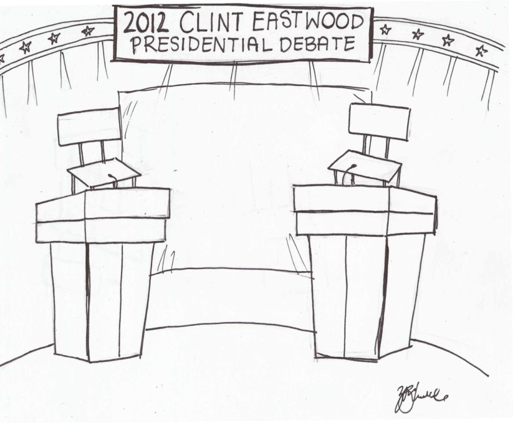 Clint+Eastwood+hosts+2012+Presidential+Debate+