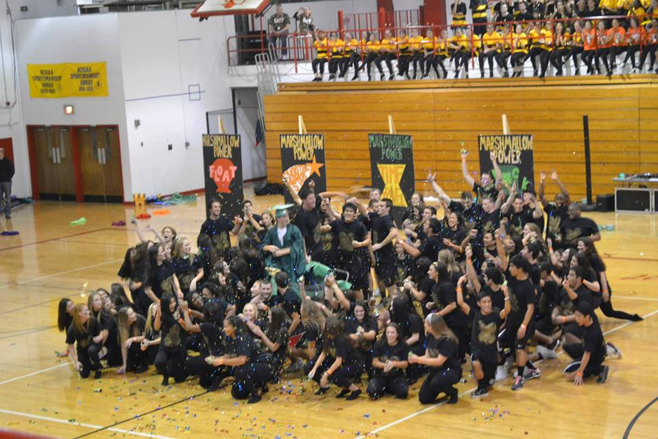 Andi Leff (14)/ Eastside Photo Editor The seniors win the Spirit Week Dance Competition.