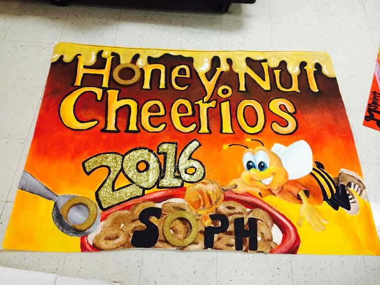 Spirit Week banners positively portray every grade's theme