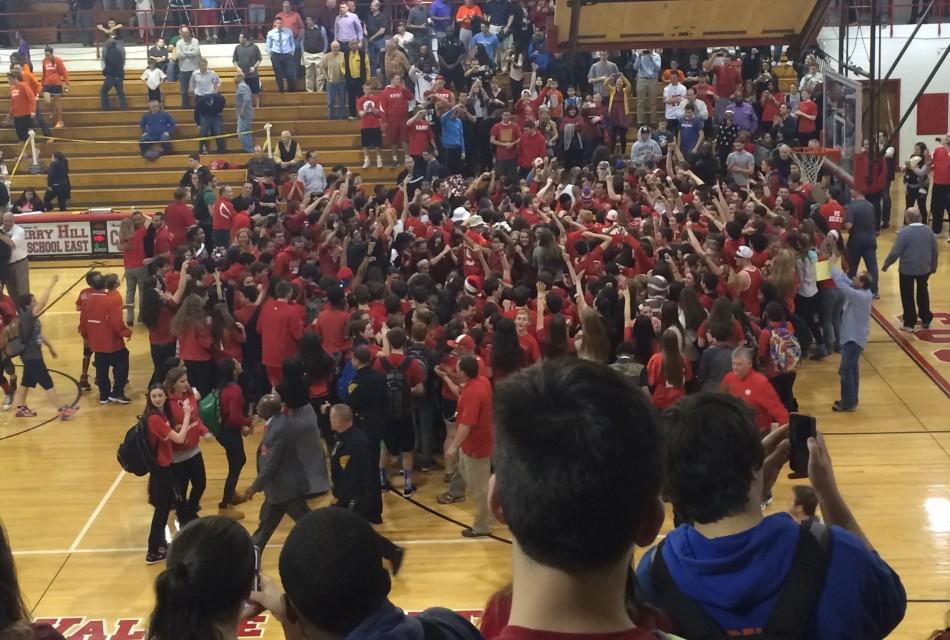 Varsity basketball team wins East's first ever Sectional championship over Cherokee