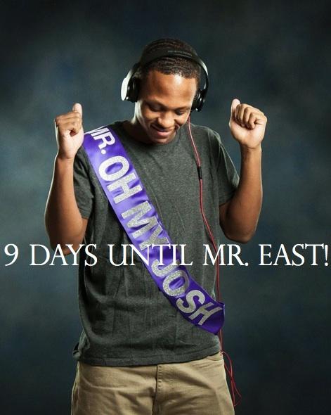 Mr. East Countdown: Mr. Oh My Josh—9 days to go!