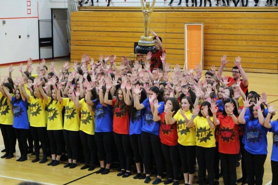 Juniors proudly win the Spirit Week Dance.