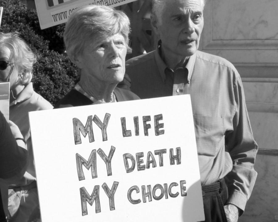 Patients campaign for the Death with Dignity Act.