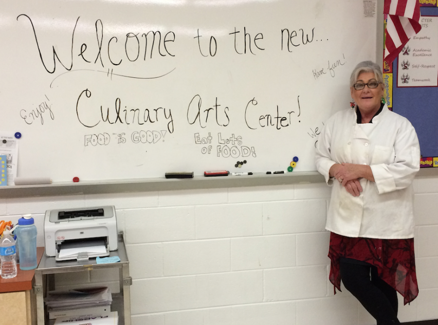 Ms. Dilba welcomes everyone at East to the new Culinary Arts Center