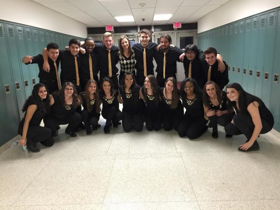 Stay Tuned competition group competes in International High School A Capella Northeastern Semi Finals.