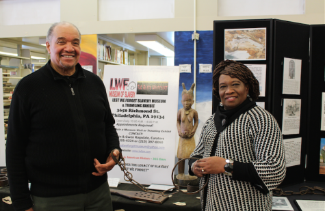 Mr. J. Justin Ragsdale and Mrs. Gwen Ragsdale provide students with insightful information regarding slavery.
