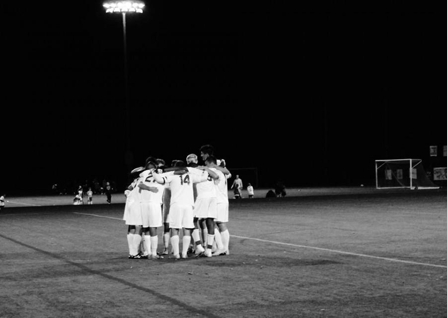 Boys Varsity Soccer Team stands united