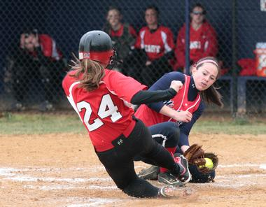 East Softball game taking place at East in 2013