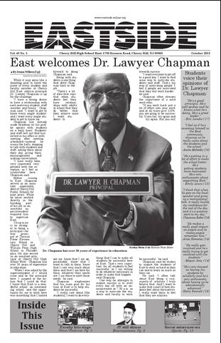 Dr. Lawyer Chapman will be leaving Cherry Hill East at the end of 2015-2016 school year.