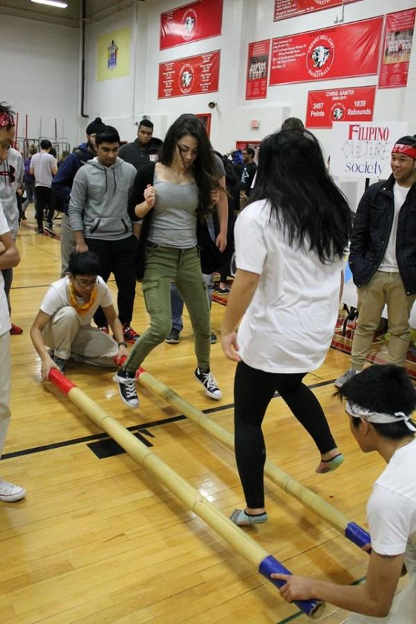 The Korean Culture club allowed students to try-out their tinkling skills in the DiBart gym.