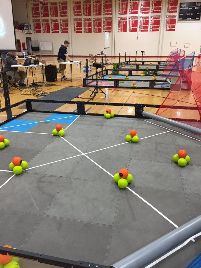 An example of some of the interactive games held at Robotics competitions.