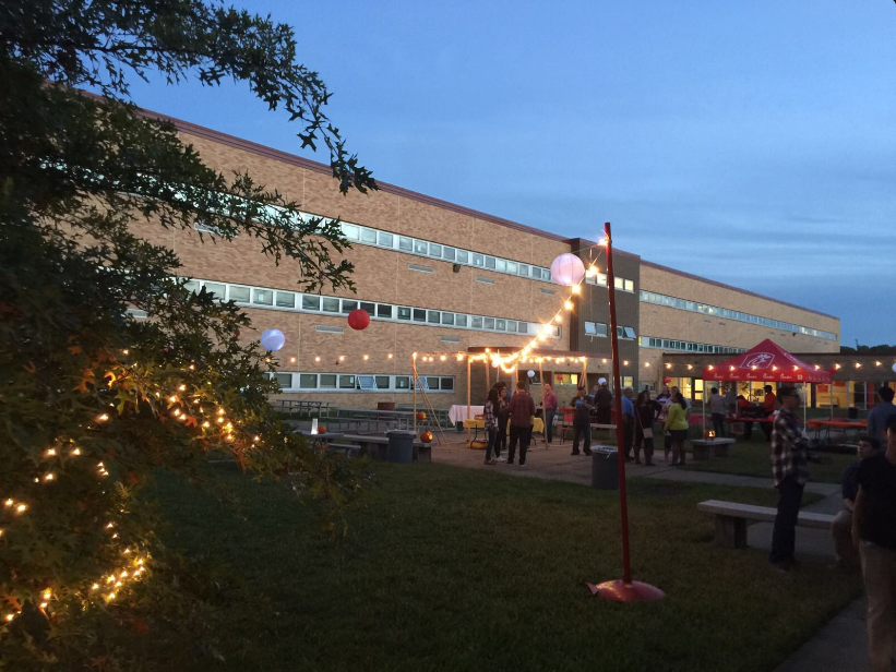 Students enjoy a nice night in the outdoors during East's first Festival E.