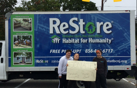 Habitat for Humanity prepares for its first Stuff-A-Truck event of the 2016-17 year.