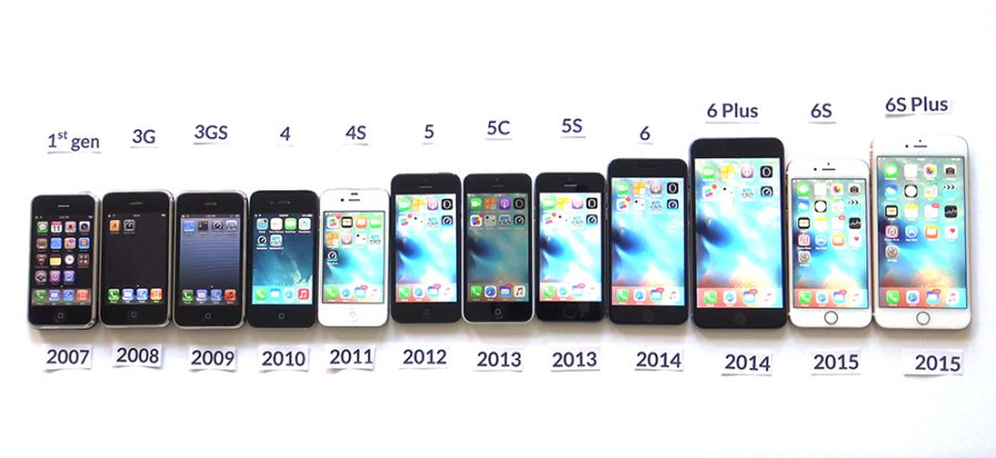 iphone generations list eastside an evolution a look at the changes in iphones 11889