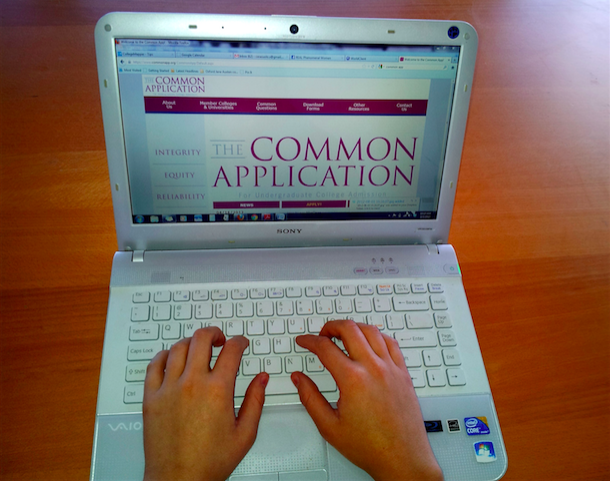 As college application season rolls around, students busily try to put the perfect application together.