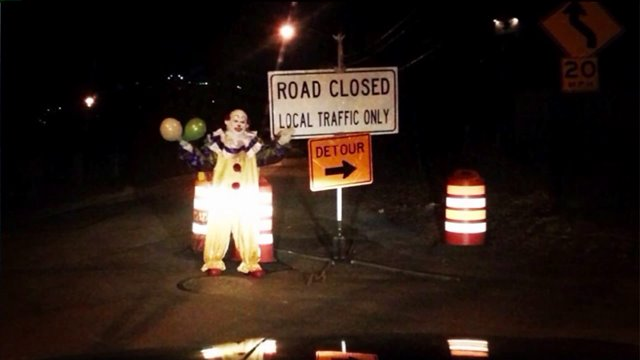 These creepy clowns are lingering in the weirdest of places, from deep in the woods to the tops of billboards. The issue seems to be growing out of hand.