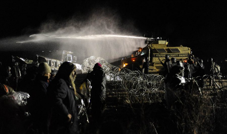 The+Army+Corps+of+Engineers+does+not+allow+construction+workers+to+build+the+Dakota+Access+Pipeline++because+it+crosses+Native+American+land.