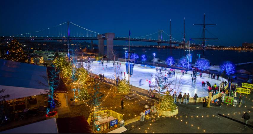 People come to Philly for the Blue Cross RiverRink Winterfest for a day filled with ice skating, music and all kinds of foods.