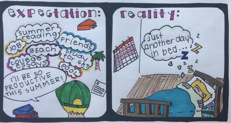 Summer expectation vs. reality.