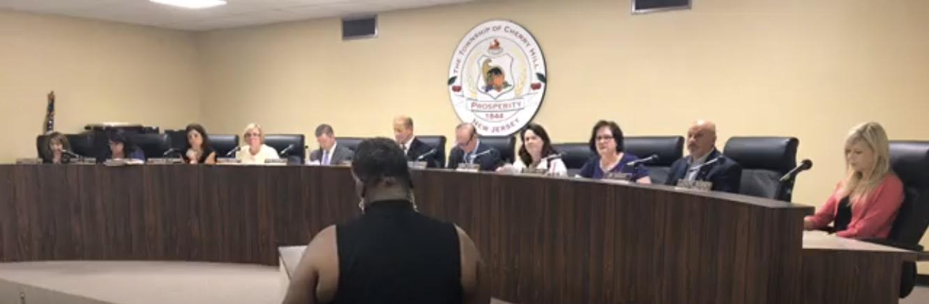The Cherry Hill Township live streamed their meeting on Facebook.