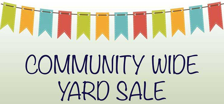 East plans to host its first ever community yard sale tomorrow.