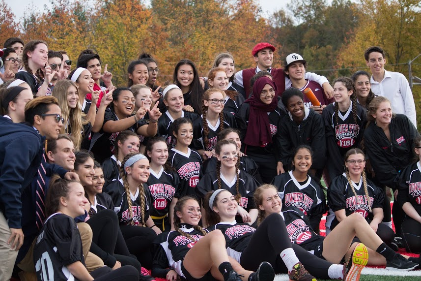 A tight battle, but the Seniors win the annual Powder Puff football game 32-30