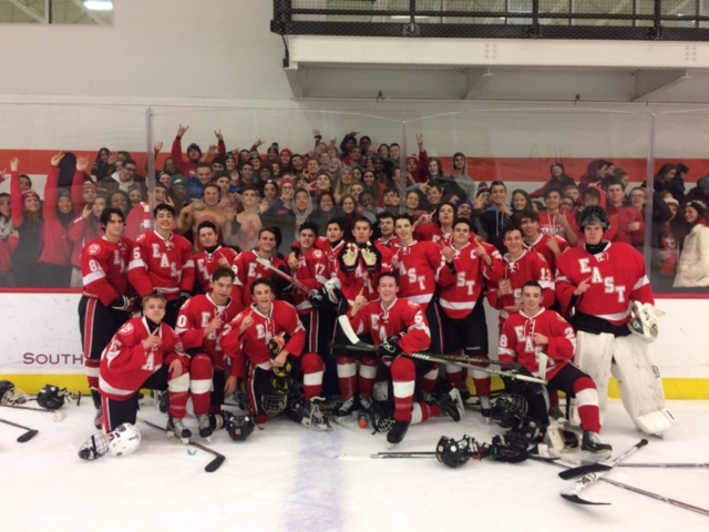 The+East+Ice+Hockey+Team+beats+Holy+Lenape+Valley+in+a+very+tight+game.+