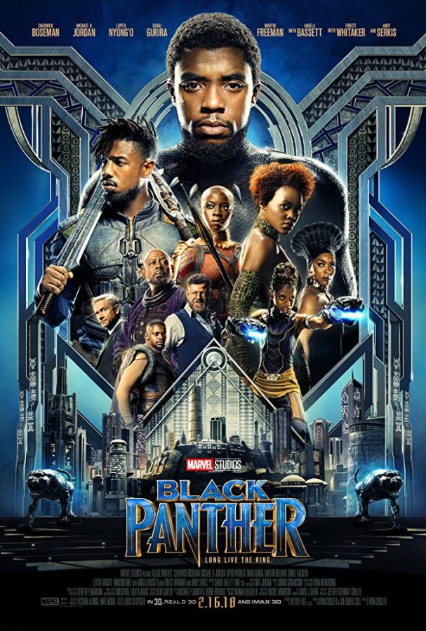 The cast of Black Panther in the theatrical poster.