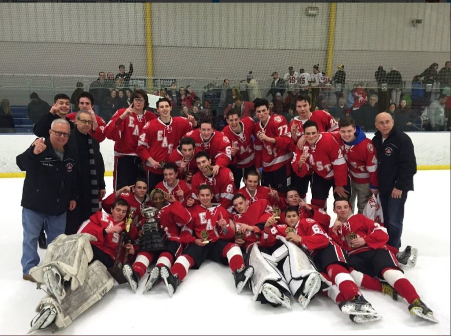 The East Ice Hockey team is roaring and ready for their championship showdown.