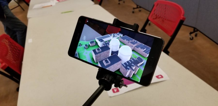 One demonstration of the AR function, where students visualize a nuclear power plant.