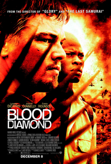 The film, Blood Diamond, that the story all revolves around.