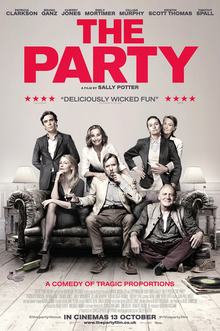 The Party stars Kristin Scott Thomas as Janet, one of the main characters of the film.